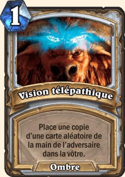 Vision télépathique carte Hearthstone