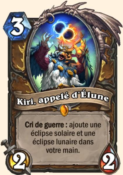 Kiri, appelé d'Élune carte Hearthstone