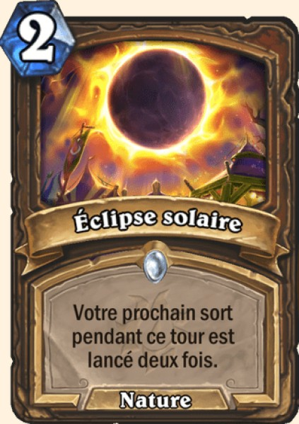 Éclipse solaire carte Hearthstone