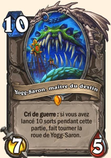 Yogg-Saron, maître du destin carte Hearthstone