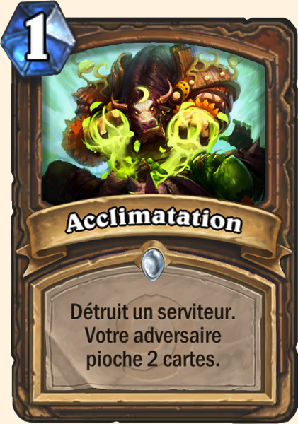 Acclimatation carte Hearthstone