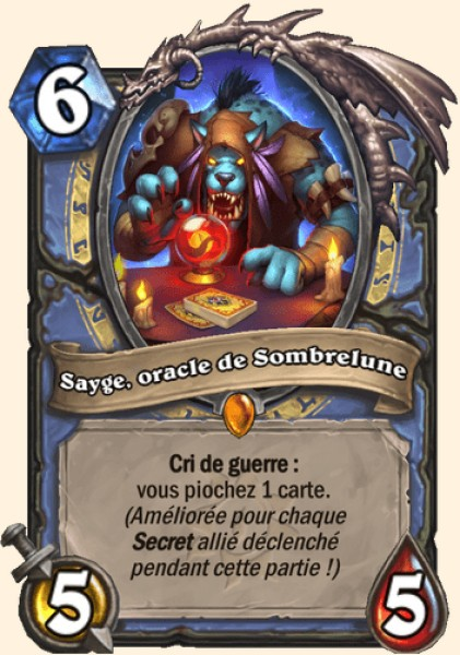 Sayge, oracle de Sombrelune carte Hearthstone
