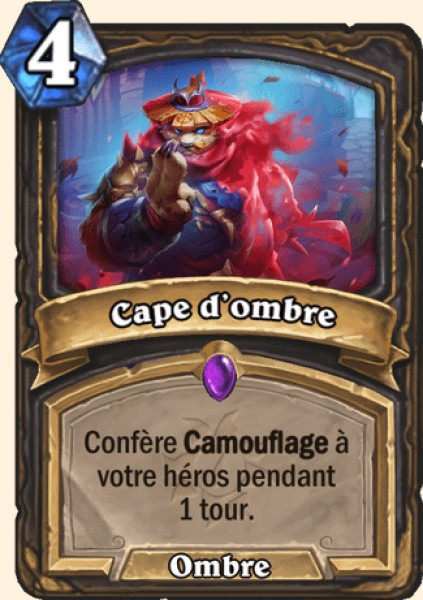 Cape d'ombre carte Hearthstone