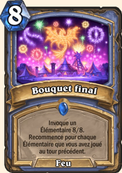Bouquet final carte Hearthstone