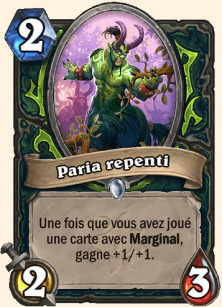 Paria repenti carte Hearthstone
