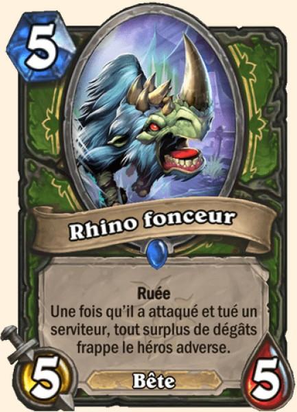 Rhino fonceur carte Hearthstone