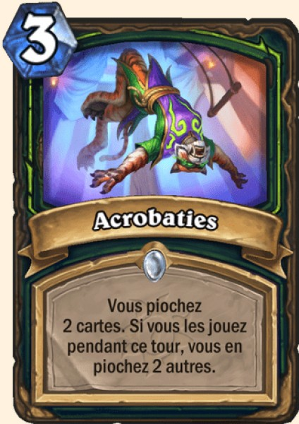 Acrobaties carte Hearthstone