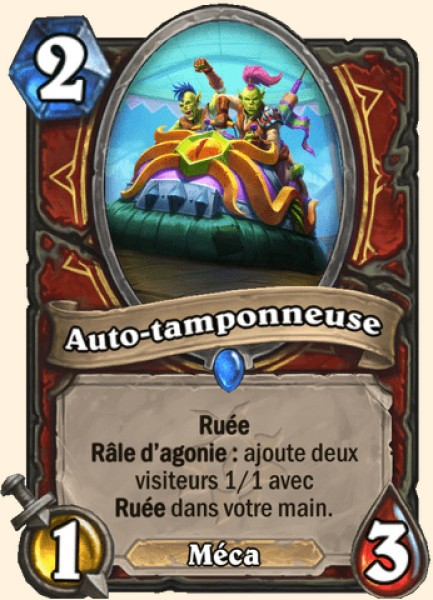 Auto-tamponneuse carte Hearthstone