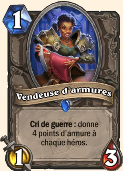 Vendeuse d'armures carte Hearthstone