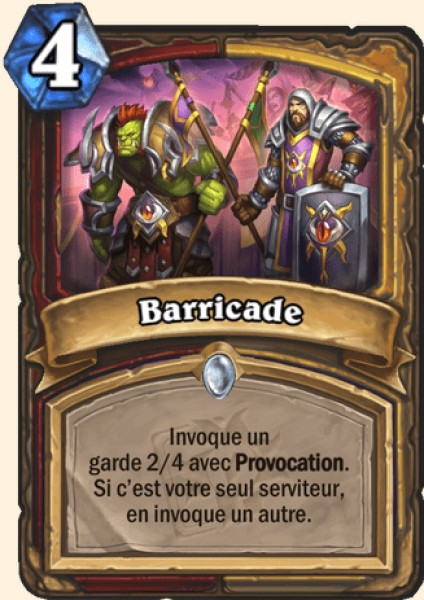 Barricade carte Hearthstone