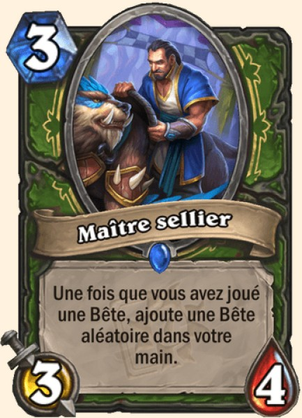 Maître sellier carte Hearthstone