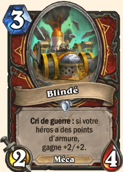 Blindé carte Hearthstone