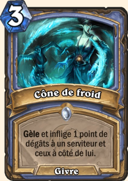 Cône de froid carte Hearthstone