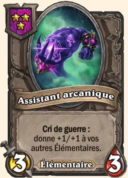 Assistant arcanique carte Hearthstone