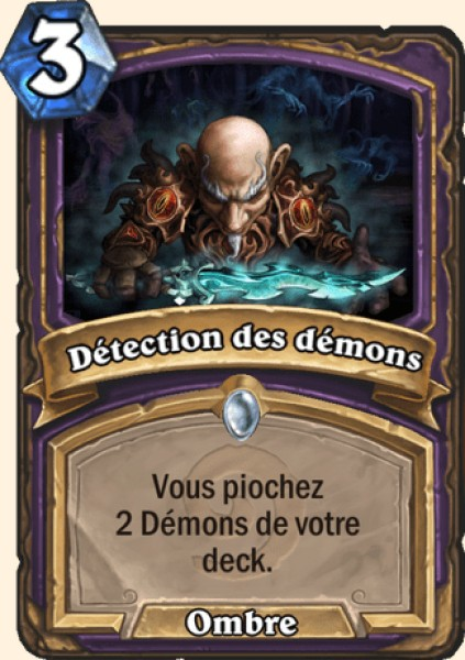 Détection des démons carte Hearthstone