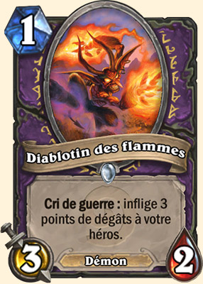 diablotin des flammes carte hearthstone hearthstone. Black Bedroom Furniture Sets. Home Design Ideas