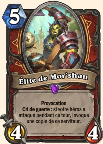 Élite de Mor'shan carte Hearthstone