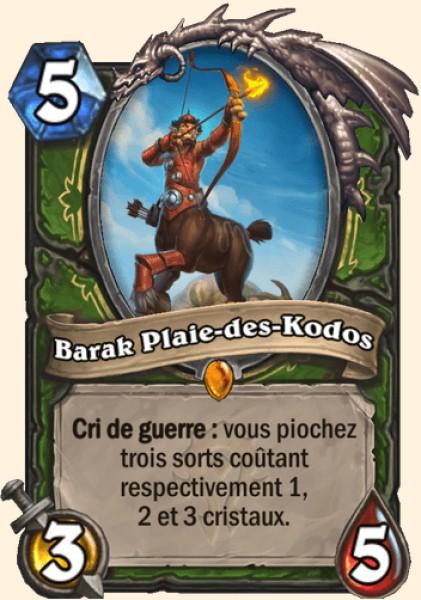 Barak Plaie-des-Kodos carte Hearthstone