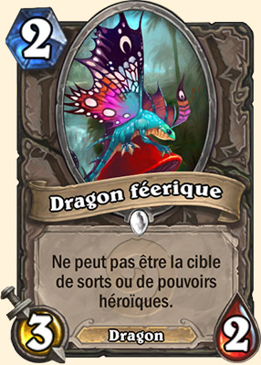 Dragon féerique carte Hearthstone