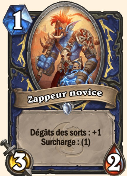 Zappeur novice carte Hearthstone