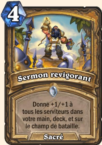 Sermon revigorant carte Hearthstone