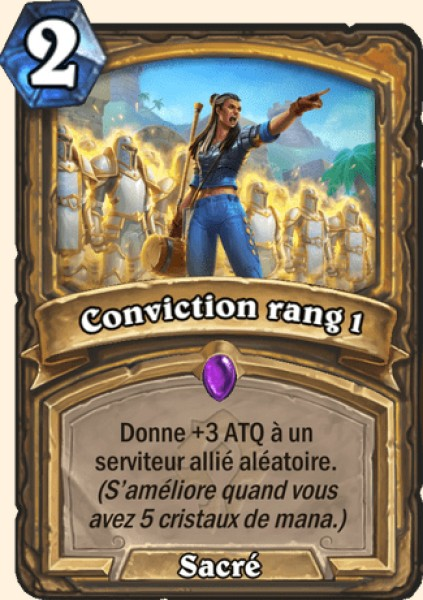 Conviction rang 1 carte Hearthstone