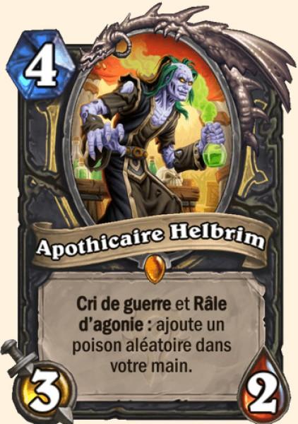 Apothicaire Helbrim carte Hearthstone