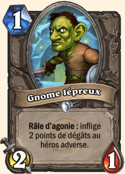 Gnome lépreux carte Hearthstone