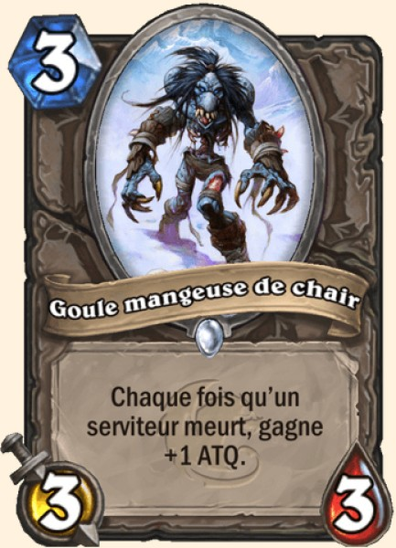Goule mangeuse de chair carte Hearthstone