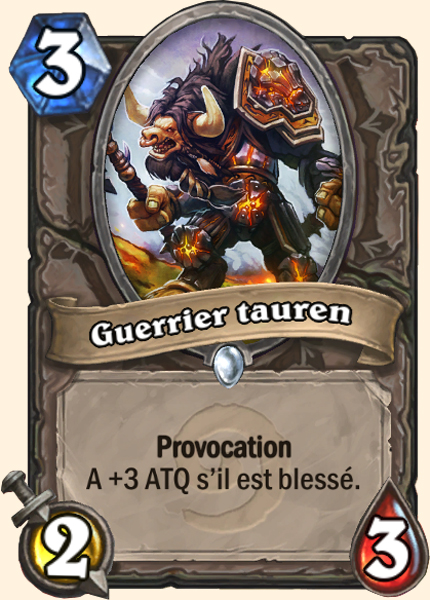 Guerrier tauren carte Hearthstone