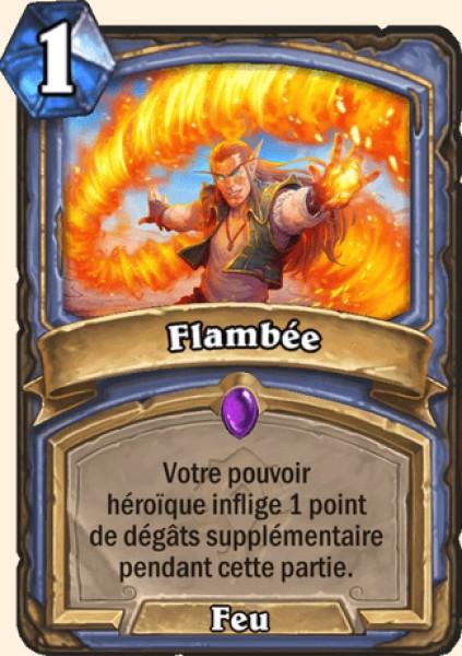 Flambée carte Hearthstone