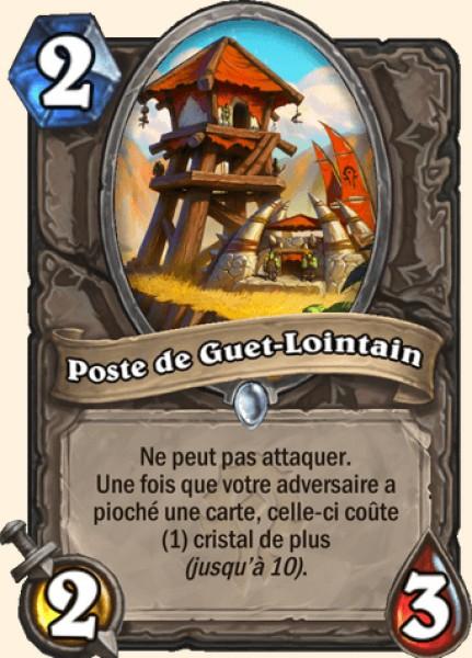 Poste de Guet-Lointain carte Hearthstone