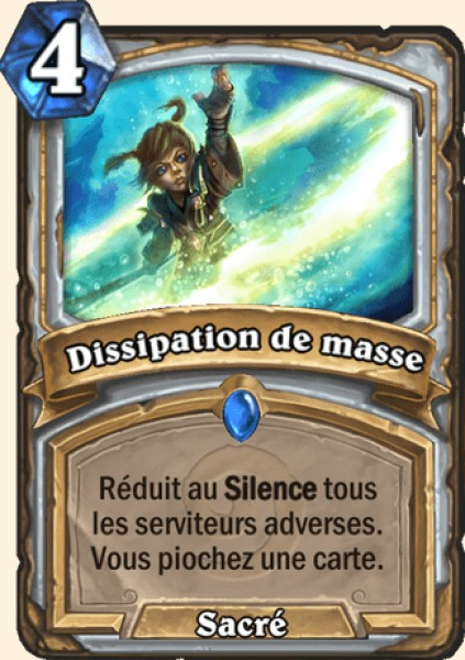 Dissipation de masse carte Hearthstone