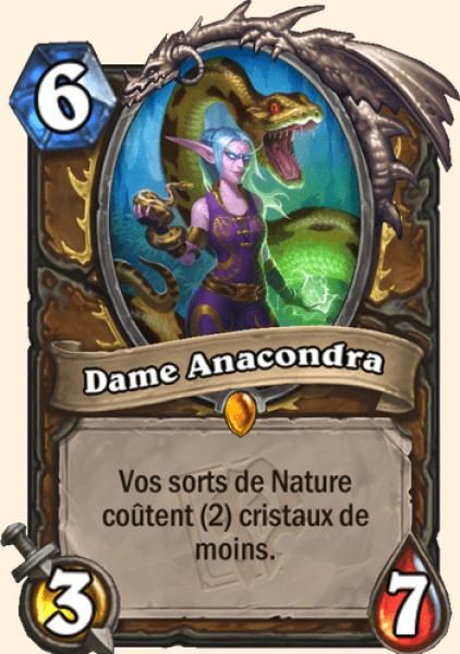 Dame Anacondra carte Hearthstone