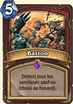 Baston carte Hearthstone