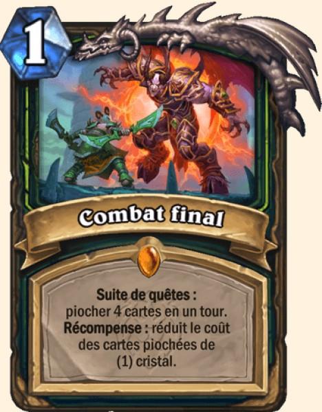Combat final carte Hearthstone
