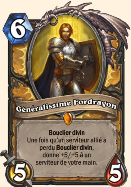 Généralissime Fordragon carte Hearthstone