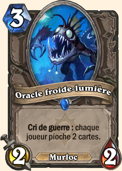 Oracle froide-lumière carte Hearthstone