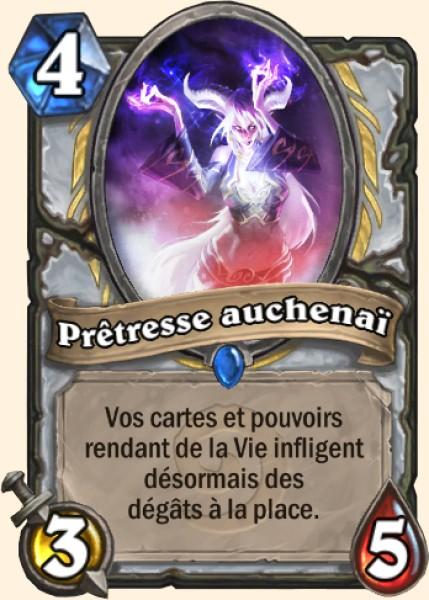 Prêtresse auchenaï carte Hearthstone