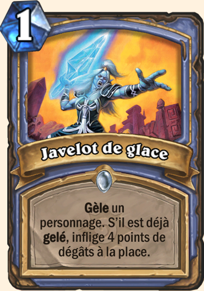 Javelot de glace carte Hearthstone