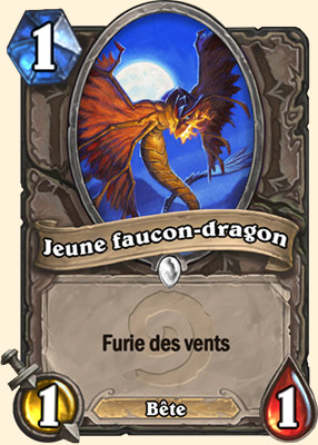 Jeune faucon-dragon carte Hearthstone