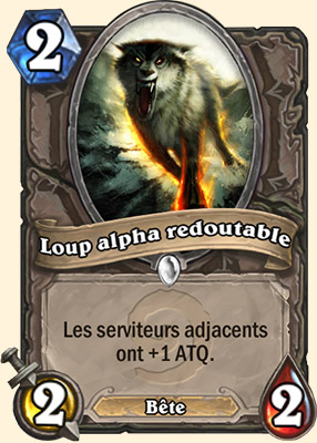 Loup alpha redoutable carte Hearthstone