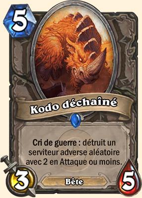 Kodo déchaîné - Carte Hearthstone