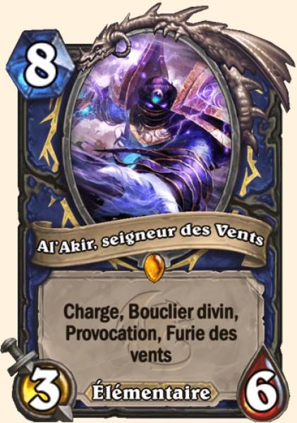 Al'Akir, seigneur des Vents carte Hearthstone
