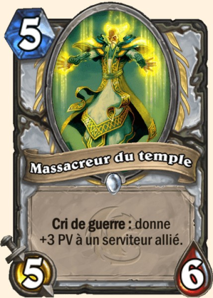 Massacreur du temple carte Hearthstone
