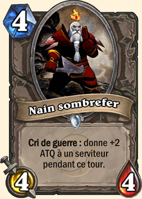 Nain sombrefer carte Hearthstone