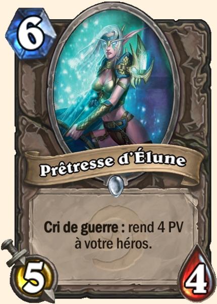 Prêtresse d'Élune - Carte Hearthstone