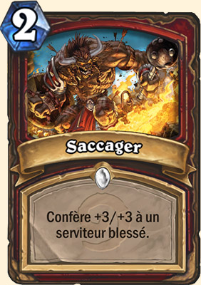 Saccager carte Hearthstone
