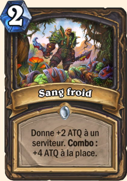 Sang froid carte Hearthstone