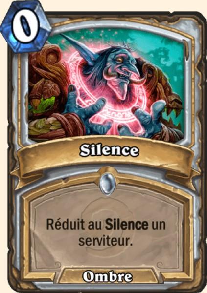 Silence carte Hearthstone